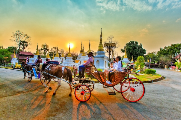 Horse drawn carriages, Lampang